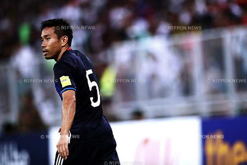 Yuto Nagatomo (JPN), <br /> SEPTEMBER 5, 2017 - Football / Soccer :  FIFA World Cup Russia 2018 Asian Qualifier Final Round Group B match between <br /> Japan 0-1 Saudi Arabia <br /> at King Abdullah Sports City Stadium in Jeddah, Saudi Arabia. (Photo by Sho Tamura/AFLO)