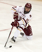 Matthew Gaudreau (BC - 21) - The Boston College Eagles defeated the University of Vermont Catamounts 7-4 on Saturday, March 11, 2017, at Kelley Rink to sweep their Hockey East quarterfinal series.The Boston College Eagles defeated the University of Vermont Catamounts 7-4 on Saturday, March 11, 2017, at Kelley Rink to sweep their Hockey East quarterfinal series.