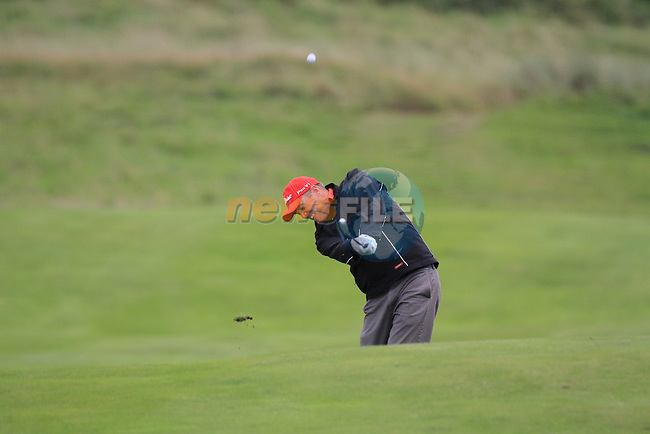 Day 3 of the 100th Irish PGA championship at Seapoint Golf Club, Co Louth..David Mortimer playing for the 16th green.Picture Fran Caffrey/www.golffile.ie.