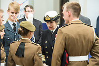 Today, HRH The Princess Royal meets members of the Reserve Forces Cadet Association at The Venue Cymru, Llandudno to celebrate Armed Forces Day.<br /> <br /> Saturday 30th June 2018, saw hundreds of events held to mark the tenth annual Armed Forces Day, including parades and ceremonies right across the country. Men and women from the Royal Navy, British Army and Royal Air Force, both regulars and reserves, are being recognised alongside the wider defence family including cadets and veterans.<br /> <br /> The national event in Llandudno, North Wales was attended by Her Royal Highness Princess Anne, the Princess Royal representing The Queen and the Royal Family, the Prime Minister Theresa May and the Defence Secretary Gavin Williamson, along with other senior politicians. <br /> <br /> A parade of around 1,000 serving personnel, veterans, cadets and marching bands set off from the Llandudno War Memorial at 11am to signal the start of the Armed Forces Day celebrations.<br /> <br /> Also present were many veterans that make-up the estimated 2.56 million Armed Forces veteran community living in the UK. Young Cadets were also present; together the Sea, Army, and Air cadets have almost 100,000 members.