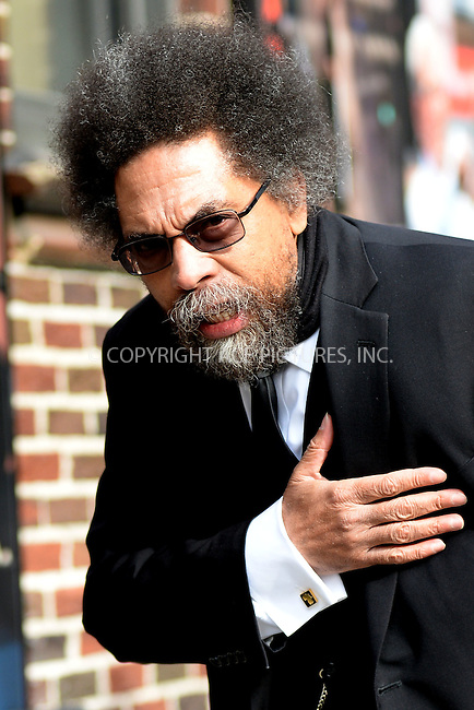 WWW.ACEPIXS.COM <br /> March 16, 2015 New York City<br /> <br /> Cornel West arrives to tape an appearance on the Late Show with David Letterman on March 16, 2015 in New York City.<br /> <br /> Please byline: Kristin Callahan/ACE Pictures  <br /> <br /> ACEPIXS.COM<br /> Ace Pictures, Inc<br /> tel: (212) 243 8787 or (646) 769 0430<br /> e-mail: info@acepixs.com<br /> web: http://www.acepixs.com