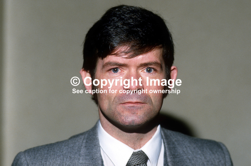 Brian McCann, councillor, Provisional Sinn  Fein, Craigavon, N Ireland, 19860101BMC..Copyright Image from Victor Patterson, 54 Dorchester Park, Belfast, United Kingdom, UK...For my Terms and Conditions of Use go to http://www.victorpatterson.com/Victor_Patterson/Terms_%26_Conditions.html