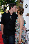"""Actress Jaime King (R) and husband Kyle Newman arrive at the 2008 Los Angeles Film Festival's """"HellBoy: II The Golden Army"""" Premiere at the Mann Village Westwood Theater on June 28, 2008 in Westwood, California."""