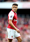 1st October 2017, Emirates Stadium, London, England; EPL Premier League Football, Arsenal versus Brighton; Alexis Sanchez of Arsenal prepares for a Brighton corner
