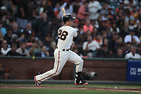 SAN FRANCISCO, CA - AUGUST 11: Buster Posey #28 of the San Francisco Giants bats against the Pittsburgh Pirates during the game at AT&T Park on Saturday, August 11, 2018 in San Francisco, California. (Photo by Brad Mangin)