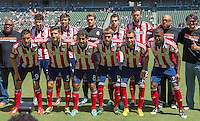 CARSON, CA - August 25, 2013: The starting line up for Chivas USA for the Chivas USA vs New York Red Bulls match at the StubHub Center in Carson, California. Final score, Chivas USA 3, New York Red Bulls 2.
