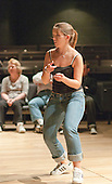 "Choreographer, Hannah Greenslade, leading rehearsals.  Special Olympics Surrey put on a show,   ""Beyond the Stars"", at the Rose Theatre, Kingston upon Thames to raise money for the  SOGB team.  The Special Olympics are for athletes with learning disabilities."