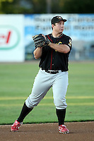 August 16 2008:  Third baseman Brett Wallace (5) of the Quad Cities River Bandits, Class-A affiliate of the St. Louis Cardinals, during a game at Pohlman Field in Beloit, WI.  Photo by:  Mike Janes/Four Seam Images