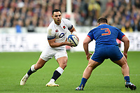 Ben Te'o of England in possession. Natwest 6 Nations match between France and England on March 10, 2018 at the Stade de France in Paris, France. Photo by: Patrick Khachfe / Onside Images