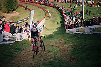 Elite Men CX World Champion Wout van Aert (BEL/Cibel-Cebon) storming up the hill<br /> <br /> GP Mario De Clercq / Hotond cross 2018 (Ronse, BEL)<br /> photo ©kramon