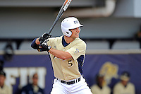4 March 2012:  FIU infielder/outfielder Tyler James Shantz (5) hits a solo home run early in the game as the FIU Golden Panthers defeated the Brown University Bears, 8-3, at University Park Stadium in Miami, Florida.