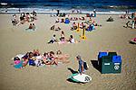 People enjoy a day around beach in Long Branch in New Jersey.  Photo by Eduardo Munoz Alvarez / VIEW.