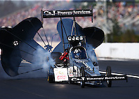 Mar 20, 2016; Gainesville, FL, USA; NHRA top fuel driver Dave Connolly during the Gatornationals at Auto Plus Raceway at Gainesville. Mandatory Credit: Mark J. Rebilas-USA TODAY Sports