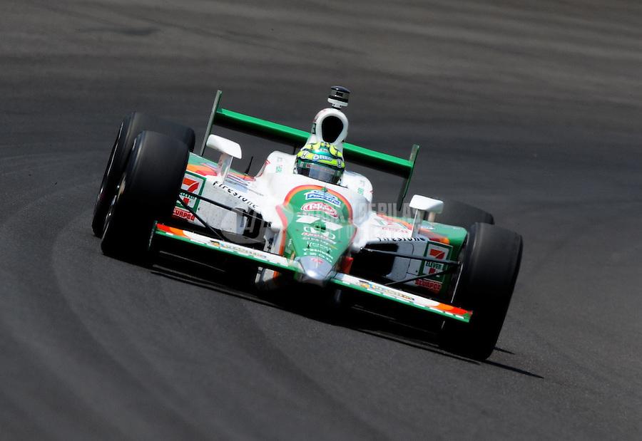 May 30, 2010; Indianapolis, IN, USA; IndyCar Series driver Tony Kanaan during the Indianapolis 500 at the Indianapolis Motor Speedway. Mandatory Credit: Mark J. Rebilas-
