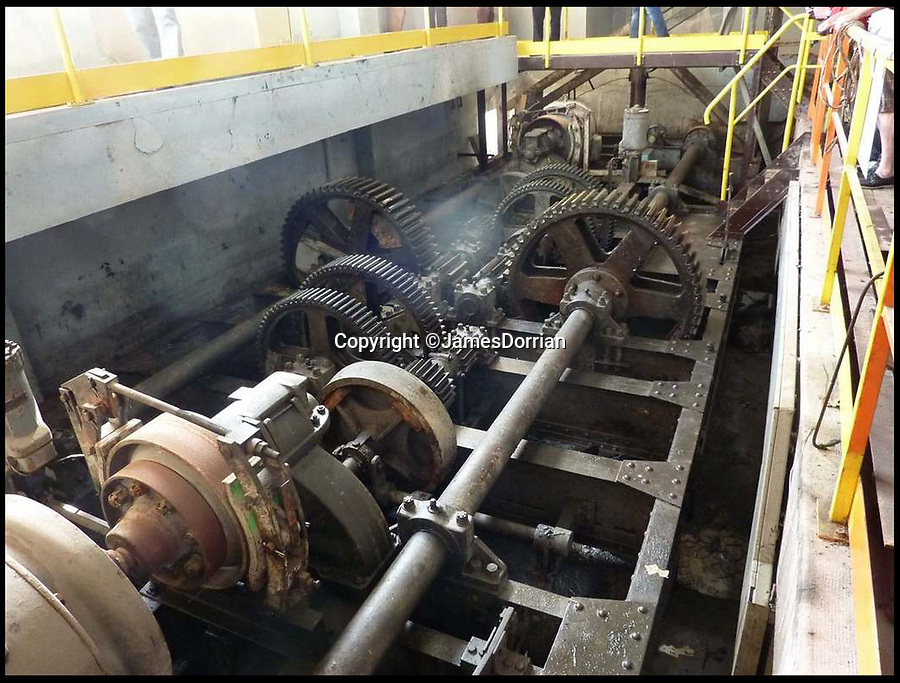 BNPS.co.uk (01202 558833)Pic: JamesDorrian/BNPS<br /> <br /> Inside the South Winding House in St Nazaire - It's twin to the north was blown up by General (then Lieutenant) Corran Purdon and his team.<br /> <br /> One of the last hero's of the 'Greatest Raid of All' - the British operation to blow up the Nazi dry dock at St Nazaire - has died.<br /> <br /> Major General Corran Purdon played a leading role in the audacious World War Two mission in which a ship full of explosives was rammed into the heavily-defended dock gates at the French port.<br /> <br /> After the collision about 100 commandos, including Maj Gen Purdon, poured off the crashed ship and stormed and destroyed numerous dockside buildings.<br /> <br /> The war veteran passed away at his home in Devizes, Wilts, aged 97.