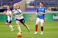 20190813 - ANDERLECHT, BELGIUM : Anderlecht's Charlotte Tison (20)  and Linfield's Kirsty McGuinness (11 - right) pictured during the female soccer game between the Belgian RSCA Ladies – Royal Sporting Club Anderlecht Dames and the Northern Irish Linfield ladies FC , the third and final game for both teams in the Uefa Womens Champions League Qualifying round in group 8 , Tuesday 13 th August 2019 at the Lotto Park Stadium in Anderlecht , Belgium  .  PHOTO SPORTPIX.BE   STIJN AUDOOREN