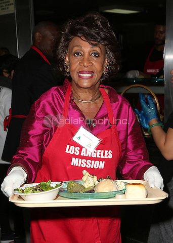 Los Angeles, CA - DECEMBER 23: Congresswoman Maxine Waters, At Los Angeles Mission Christmas Celebration, At The Los Angeles Mission In California on December 23, 2016. Credit: Faye Sadou/MediaPunch