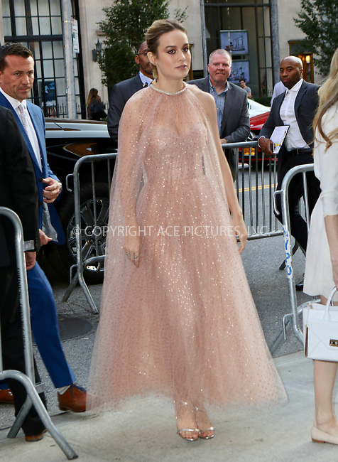 www.acepixs.com<br /> <br /> August 9, 2017 New York City<br /> <br /> Brie Larson arriving at the premiere of 'The Glass Castle'  on August 9, 2017 in New York City.<br /> <br /> By Line: Nancy Rivera/ACE Pictures<br /> <br /> <br /> ACE Pictures Inc<br /> Tel: 6467670430<br /> Email: info@acepixs.com<br /> www.acepixs.com