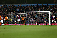 James Chester of Aston Villa scores Aston Villas second goal <br /> <br /> Photographer Leila Coker/CameraSport<br /> <br /> The EFL Sky Bet Championship - Aston Villa v Wolverhampton Wanderers - Saturday 10th March 2018 - Villa Park - Birmingham<br /> <br /> World Copyright &copy; 2018 CameraSport. All rights reserved. 43 Linden Ave. Countesthorpe. Leicester. England. LE8 5PG - Tel: +44 (0) 116 277 4147 - admin@camerasport.com - www.camerasport.com