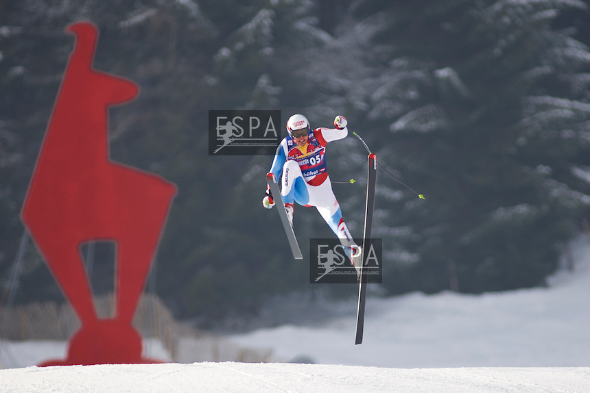 Jan 22 2009; Kitzbuhel Tirol Austria, Daniel Albrecht (SUI) crashing out whilst competing in the downhill training run for the Hahnenkamm run. part of the Audi FIS Alpine Ski  world cup. Mandatory credit: sportsphotographer.eu