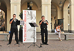MITO per la citta, momenti musicali inaspettati per Settembre Musica. Qui in Piazza Vittorio.