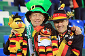 Northern Ireland's and German fans during the FIFA World Cup 2018 Qualifying Group C qualifying soccer match between Northern Ireland and Germany at the National Football Stadium at Windsor Park, Belfast, Northern Ireland, 5 Oct 2017. Photo/Paul McErlane