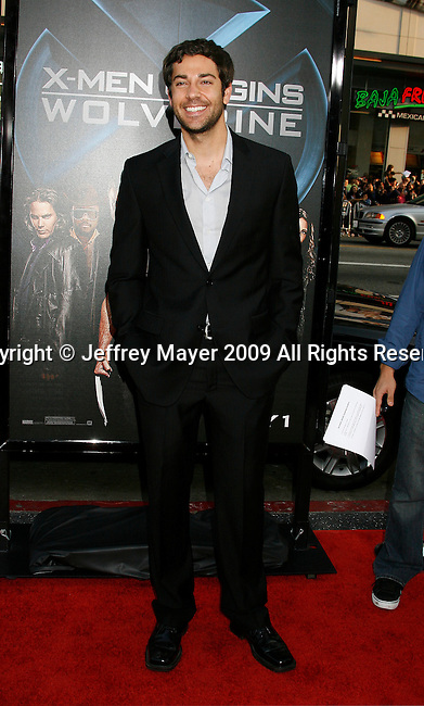 """HOLLYWOOD, CA. - April 28: Zachary Levi arrives at """"X-Men Origins: Wolverine"""" Los Angeles Industry Screening at Grauman's Chinese Theatre on April 28, 2009 in Los Angeles, California."""