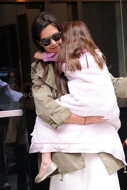 WWW.ACEPIXS.COM . . . . . ....April 18 2012, New York City....Actress Katie Holmes took her daughter Suri Cruise out on her 6th birthday on April 18 2012 in New York City....Please byline: KRISTIN CALLAHAN - ACEPIXS.COM.. . . . . . ..Ace Pictures, Inc:  ..(212) 243-8787 or (646) 679 0430..e-mail: picturedesk@acepixs.com..web: http://www.acepixs.com