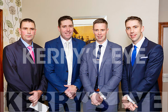 The O'Sé brothers Fergal, Dara, Tomas and Marc at their testimonial in aid of An Gaelteacht field fund in the INEC on Friday night