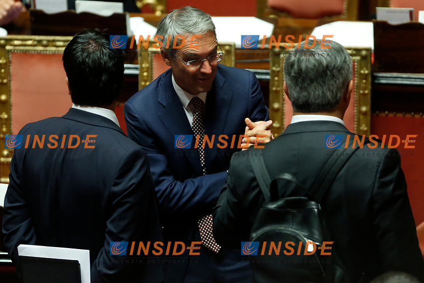 Meinhard Durnwalder and Dieter Steger<br /> Rome September 10th 2019. Senate. Discussion and Trust vote at the new Government. <br /> Foto  Samantha Zucchi Insidefoto