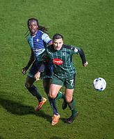 Marcus Bean of Wycombe Wanderers & Antoni Sarcevic of Plymouth Argyle during the Sky Bet League 2 match between Wycombe Wanderers and Plymouth Argyle at Adams Park, High Wycombe, England on 14 March 2017. Photo by Andy Rowland / PRiME Media Images.