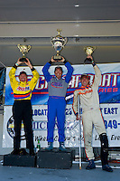 8-10 August 2008  Algonac, MI USA.F1 Podium (L to R): Terry Rinker (2nd), Tim Seebold (1st) and Chris Fairchild (3rd)..©F.Peirce Williams 2008