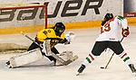 06.01.2020, BLZ Arena, Füssen / Fuessen, GER, IIHF Ice Hockey U18 Women's World Championship DIV I Group A, <br /> Deutschland (GER) vs Ungarn (HUN), <br /> im Bild Shot-Out, Sofie Disl (GER, #20) haelt alle 13 Schuesse, hier gegen Emma Kreisz (HUN, #13)<br /> <br /> Foto © nordphoto / Hafner