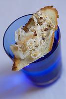 Europe/France/Bretagne/29/Finistère/Plomodiern:Tartine de chair d'araignée au beurre de sarrazin , recette d' Olivier Bellin de l'Auberge des Glazicks