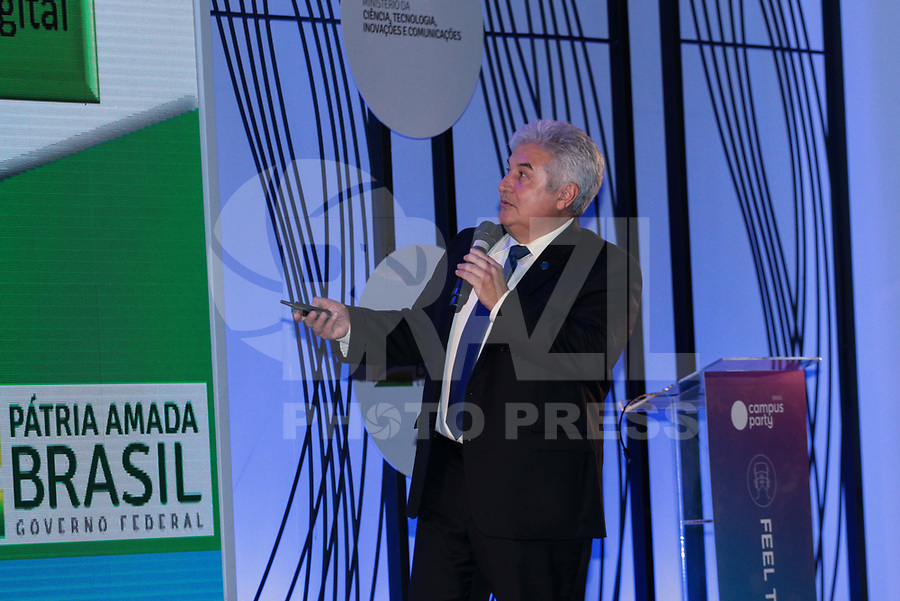SAO PAULO, SP - 15.02.2019 - CAMPUS PARTY - O Ministro da Ciência e Tecnologia, Marcos Pontes durante a Campus Party nesta sexta-feira (15) no Expo Center Norte na zona norte de Sao Paulo.<br /> <br /> (Foto: Fabricio Bomjardim / Brazil Photo Press / Folhapress)