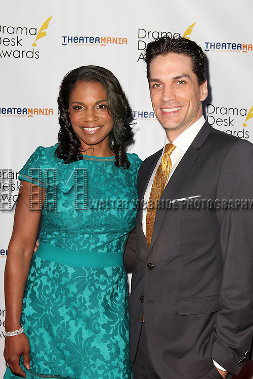 Audra McDonald and Will Swenson pictured at the 57th Annual Drama Desk Awards held at the The Town Hall in New York City, NY on June 3, 2012. © Walter McBride