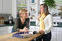 {November 7, 2009} 11:15:08 AM -- Fredericksburg, VA. -- Jody Williams, a Nobel Peace prize winner for her work in eradicating land mines, left, has pulled together a cookbook with recipes from other Nobel laureates and people who have worked for peace. She did the work in combination with her stepdaughter Emily Goose, right, as part of Emily's high school senior project.  ... -- ...Photo by Andrew B. Shurtleff, Freelance.