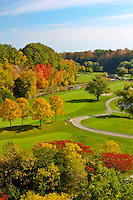 A fall view over the Glen Abbey golf course in Oakville.