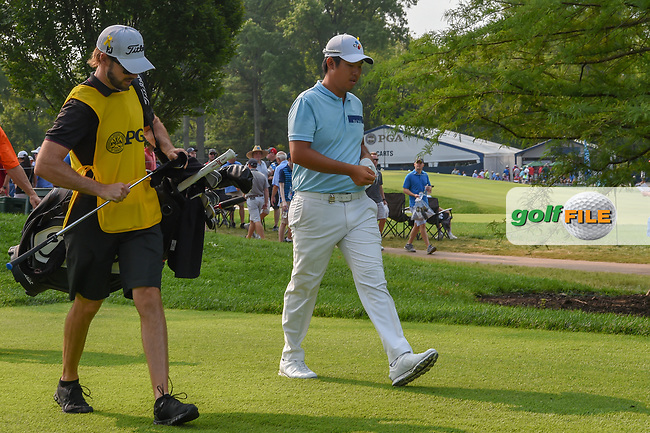 Byeong Hun An (KOR) heads down 6 during 4th round of the 100th PGA Championship at Bellerive Country Club, St. Louis, Missouri. 8/12/2018.<br /> Picture: Golffile | Ken Murray<br /> <br /> All photo usage must carry mandatory copyright credit (© Golffile | Ken Murray)