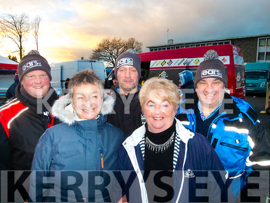 L-R Finbarr Murphy, Sue Hook, Paul Quinlan with Margaret&John Walsh at the Historics rally in Killarney last Saturday.
