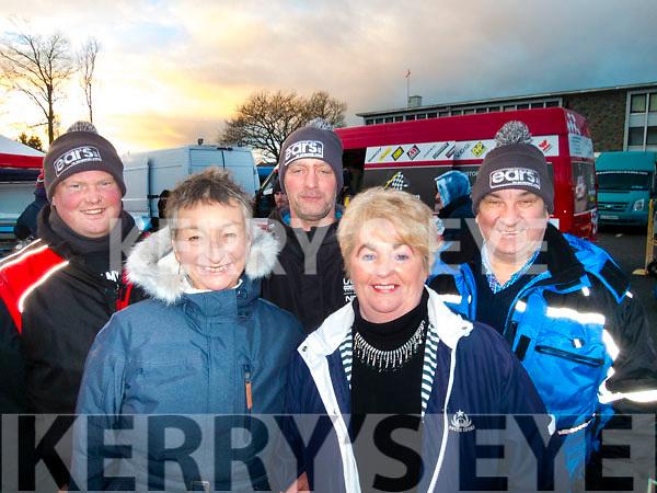 L-R Finbarr Murphy, Sue Hook, Paul Quinlan with Margaret&John Walsh at the Historics rally in Killarney last Saturday.