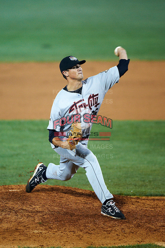 Tri-City ValleyCats pitcher Brian Holmes #36 during the NY-Penn League All-Star Game at Eastwood Field on August 14, 2012 in Niles, Ohio.  National League defeated the American League 8-1.  (Mike Janes/Four Seam Images)