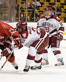 Brian McCafferty (Harvard - 20), Brendan Byrne (Harvard - 29) - The Northeastern University Huskies defeated the Harvard University Crimson 3-1 in the Beanpot consolation game on Monday, February 12, 2007, at TD Banknorth Garden in Boston, Massachusetts.