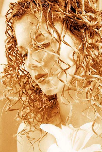 Portrait of a bride toned