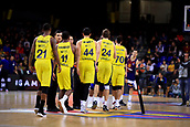 8th December 2017, Palau Blaugrana, Barcelona, Spain; Turkish Airlines Euroleague Basketball, FC Barcelona Lassa versus Fenerbahce Dogus Istanbul; Fenerbahce team huddle