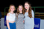 Andrea O'Callaghan, Chloe Boyle and Tara Moriarty enjoying the Causeway Comprehensive School night at the dogs at Kingdom Greyhound Stadium on Friday