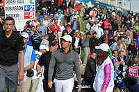 Rory McIlroy (NIR) finishing on the 18th during Round 2 of the 100th Open de France, played at Le Golf National, Guyancourt, Paris, France. 01/07/2016. <br /> Picture: Thos Caffrey | Golffile<br /> <br /> All photos usage must carry mandatory copyright credit   (&copy; Golffile | Thos Caffrey)