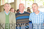 L-r: Michael O'Sullivan, Anthony Curtin S.F. and Tom Barry S.F. at the Listowel Town Council Elections counting centre on Saturday.