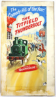 BNPS.co.uk (01202 558833)<br /> Pic: Ewbanks/BNPS<br /> <br /> The Titfield Thunderbolt - Est £1200.<br /> <br /> Original Artists...<br /> <br /> Unique hand-painted artwork for classic movie posters from the halcyon days of the silver screen have been uncovered.<br /> <br /> The 150 designs were produced by W. E. Berry Ltd of Bradford, West Yorks, who were industry leaders in poster design for more than 75 years.<br /> <br /> Included in the sale are posters advertising British classic movies like Carve Her Name With Pride, The Titfield Thunderbolt and The Ladykillers.<br /> <br /> They belong to the family of William Edward Berry but they have now made them available for sale for the first time. The are expected to sell for £10,000.