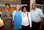 WATERBURY, CT-091318JS18--Karen Coles of Waterbury; Anita Healy of Woodbury with Vivian and Clarence Mitchell of Louisburg, North Carolina, at the Arts and Army fundraiser for the Greater Waterbury Salvation Army held at the Palace Theater in Waterbury. <br /> Jim Shannon Republican American